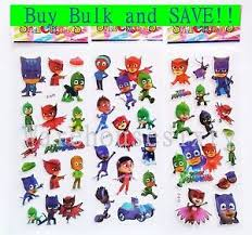 pj masks puffy stickers party favour lolly bags prizes buy bulk
