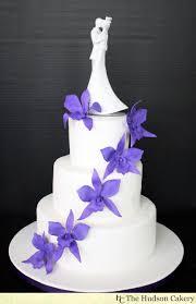 purple orchid wedding cake the hudson cakery