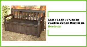 Keter Bench Storage Keter Eden 70 Gallon Storage Bench Review