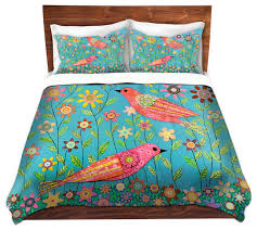dianoche duvet covers twill bohemian birds contemporary