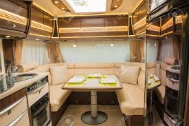 Motor Home Interiors Interior Of Motorhome Stock Photo Picture And Royalty Free Image