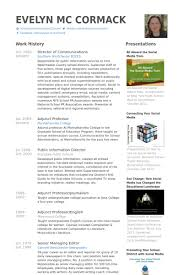 Sample Resume For Adjunct Professor Position by Director Of Communications Resume Samples Visualcv Resume