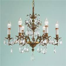 chandelier night stand l attractive vintage chandelier with antique 6 arm brass crystal stem