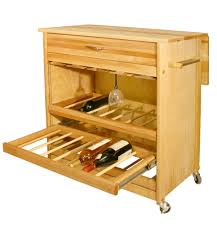 catskill craftsmen deluxe wine island with drop leaf