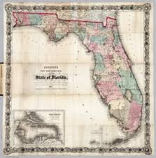 State Of Florida Map Colton U0027s New Township Map Of The State Of Florida David Rumsey
