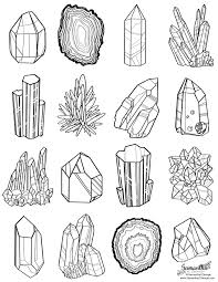 free coloring page of gem line art by samantha c george geology