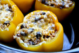 easy crockpot vegetarian stuffed peppers by blue ridge foodblogs