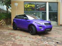 purple range rover range rover evoque full body wrap