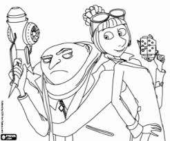 gru and lucy wilde the anti villains agent coloring page los