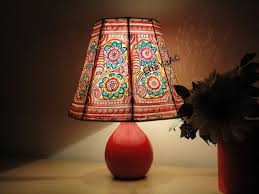 how to match a lshade to a base hand painted leather lampshade floral lshade lshade bedroom
