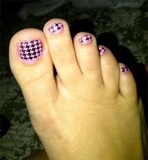 new houndstooth toe nail art designs ideas trends stickers