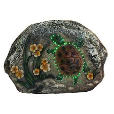 Solar Turtle Light by Northlight Led Lighted Solar Powered Turtle And Flowers Outdoor