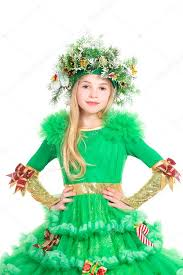 little in christmas tree costume u2014 stock photo acidgrey