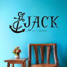 popular anchor wall decal buy cheap anchor wall decal lots from e79 anchor nautical pirate custom name wall decal wall stickers boys kids room wall art personalized