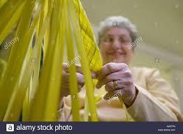 palm for palm sunday palm sunday church weaving palms for palm sunday stock