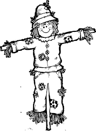 fall scarecrow coloring page wecoloringpage