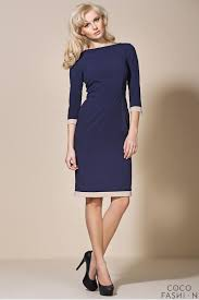 blue corporate look chic dress