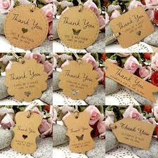 wedding thank you gift personalized brown kraft wedding favor thank you gift tags