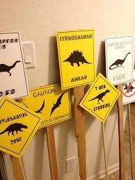 themed signs pdf complete set of 12 dinosaur crossing signs by luminousmoon