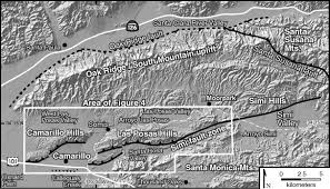 Simi Valley Map Late Pleistocene Structural Evolution Of The Camarillo Fold Belt