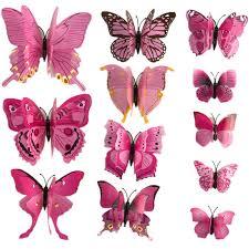 12 pcs lot pvc 3d magnet butterfly wall stickers butterflies