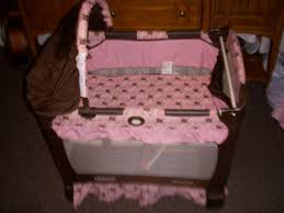 Pink And Brown Graco Pack N Play With Changing Table Graco Playpen Bassinet For Sale In Logan Utah Classifieds Ksl