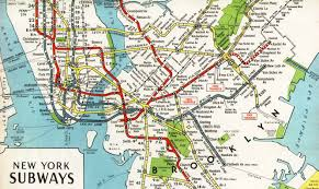 New York Central Railroad Map by Nyc Subway Maps Have A Long History Of Including Path Nj Waterfront