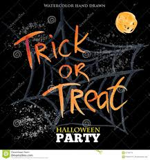 halloween party background trick or treat happy halloween party design stock vector image