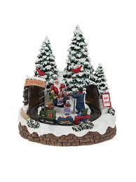 animated village scene led train house christmas decoration