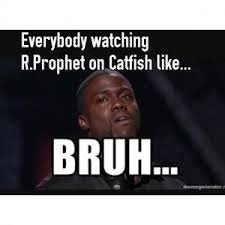 everybody watching r prophet on catfish like bruh meme image