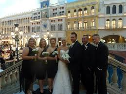 venetian las vegas wedding guests on one side for bridge of wedding picture of