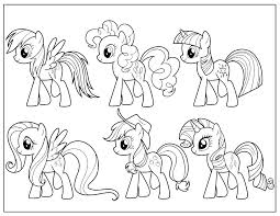 pony friendship magic coloring pages print gekimoe u2022 4917