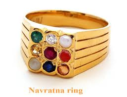 natural gemstones rings images Excellent gold plated navaratna ring made with pure silver gleam jpg