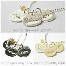 name charm necklace silver personalised name necklaces for piccola jewelry