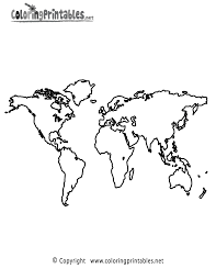Printable Blank World Map by Coloring Page Of World Map Coloring Home