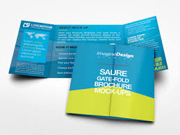 gate fold brochure template square gate fold brochure mockup by idesignstudio dribbble