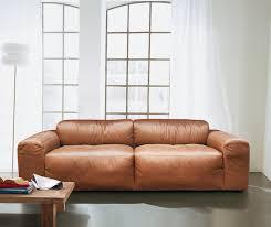 Esszimmer St Le Designklassiker Exklusives Sofa Aus Weichem Gefärbtem Rindleder Mit Aufwendiger
