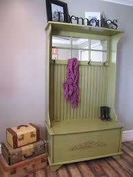 furniture antique halltree storage bench with metal hook coat