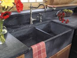 faucet design interior grey concrete undermount double trough