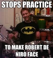 De Niro Meme - stops practice to make robert de niro face ryanrobertdeniro