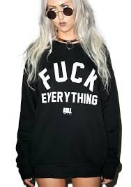 kill brand everything crew sweatshirt dolls kill