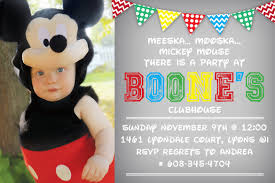 mickey mouse birthday invitation template gallery templates