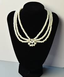 elegant white pearl necklace images Diy necklace fashion beads and accessories jpg