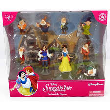 your wdw store disney figurine set snow white and the seven dwarfs