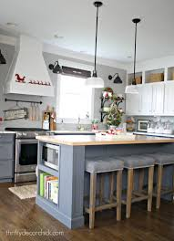tour the christmas kitchen from thrifty decor