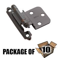 self closing face mount cabinet hinges 10 pack of self closing
