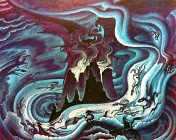fantasia u0027s night on bald mountain concept art by kay nielsen 1886