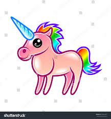 cute cartoon unicorn isolated on white stock vector 519012481