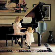 piano painting dress rehearsal by greg olsen