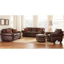 sofa loveseat and chair set yosemite leather sofa loveseat chair set akron chestnut dcg